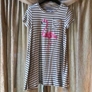 Flamingo print top